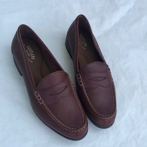 East Land leather memory foam loafers shoes size 9